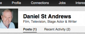 This is the real Linked In profile for Danile St Andrews