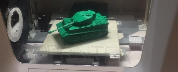 Tank made with da Vinci 3D printer.