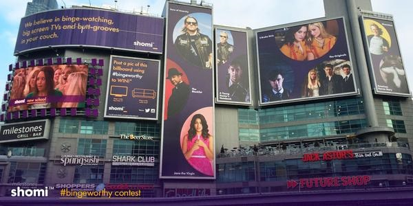 Image of Shomi billboards at Dundas Square