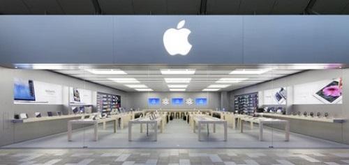 The Mississauga, Ont. Apple Store location -- sleek, hip design.