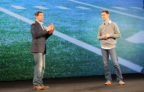Steve Young on stage at Adobe Summit