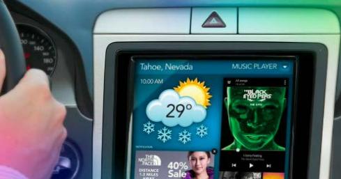 Adobe Target - in-car dashboard