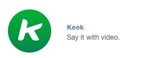 Keek in Messenger showcase