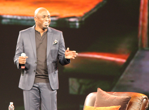 Comedian Wayne Brady helped host the Adobe Sneaks session at Summit.