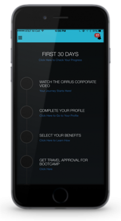 An example of an app that could be built with Salesforce for HR purposes.
