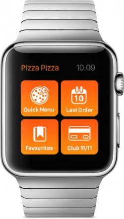 You can order a pizza from your wrist thanks to Pizza Pizza and the Apple Watch.