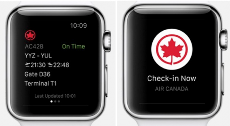 Air Canada on Apple Watch