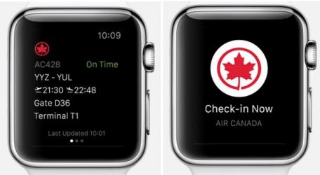 Air Canada on Apple Watch