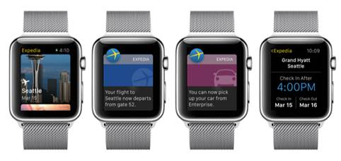 Expedia Apple Watch app