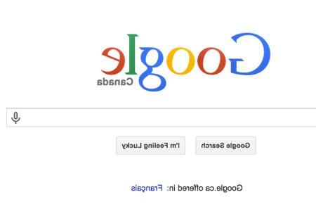 Reverse Google april fool's joke