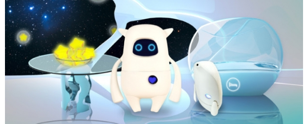 Musio robot with pointer