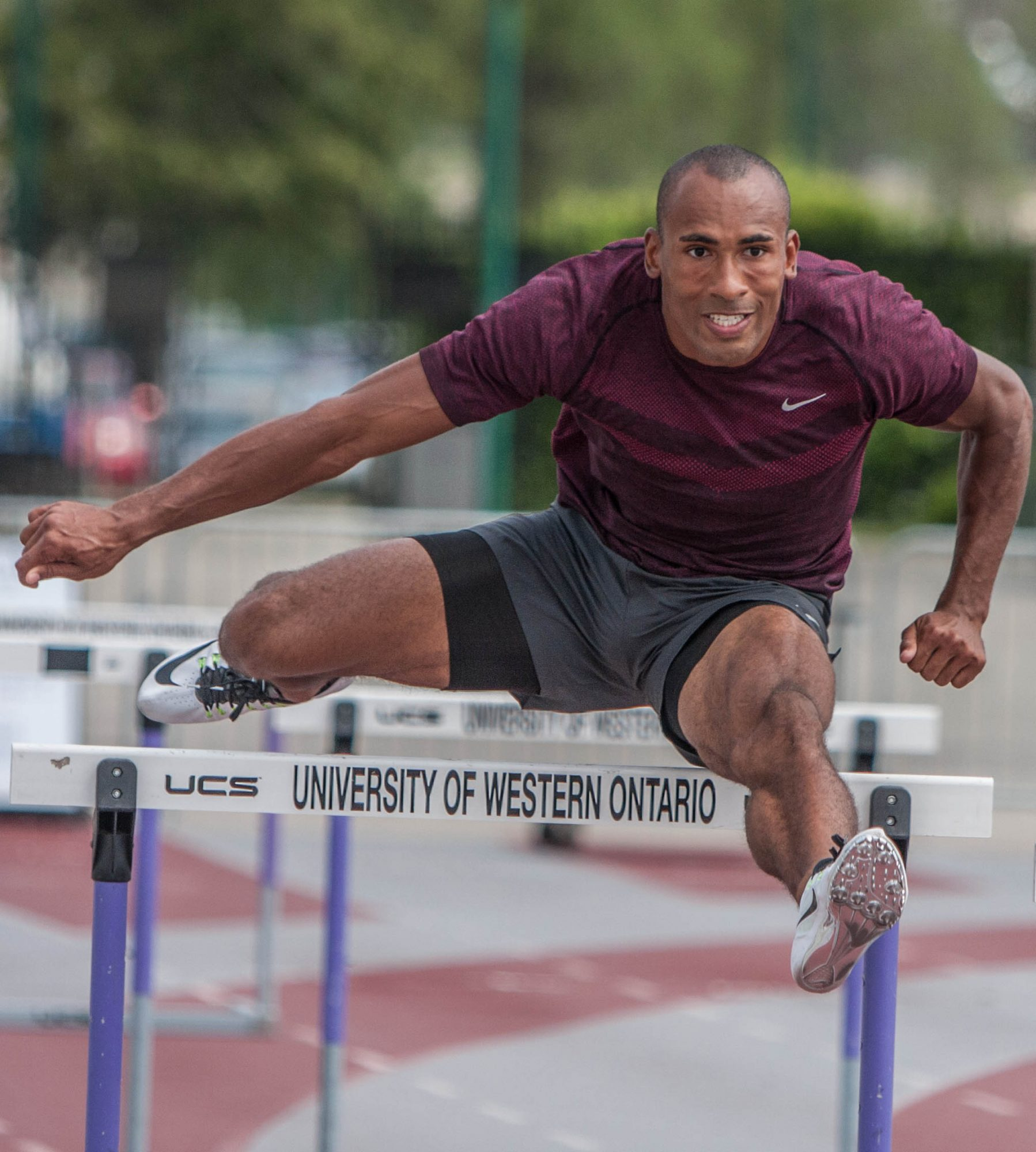 Damian hurdle training