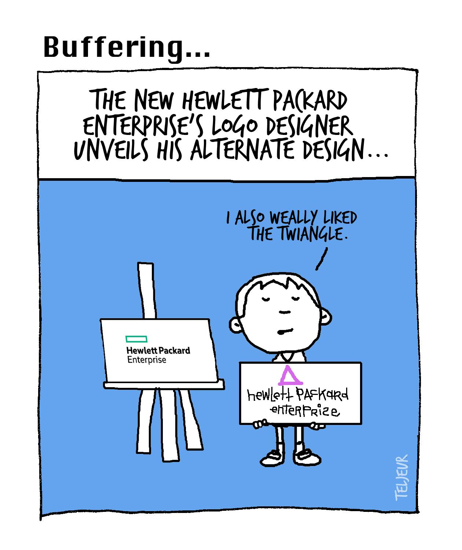 Buffering - HP Enterprise logo
