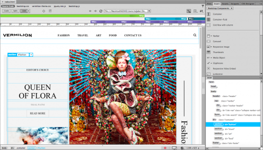 Responsive design in Adobe Dreamweaver 2015