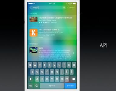 Apple iOS 9 - wwdc API