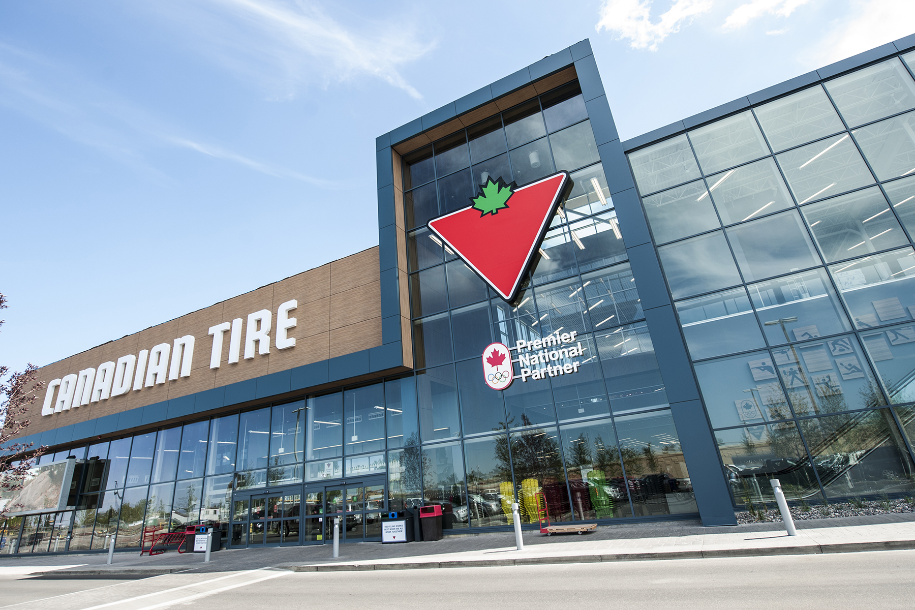 Canadian Tire opened this new Edmonton location, its largest store ever, in June 2015.