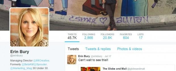 Erin Bury on  Twitter