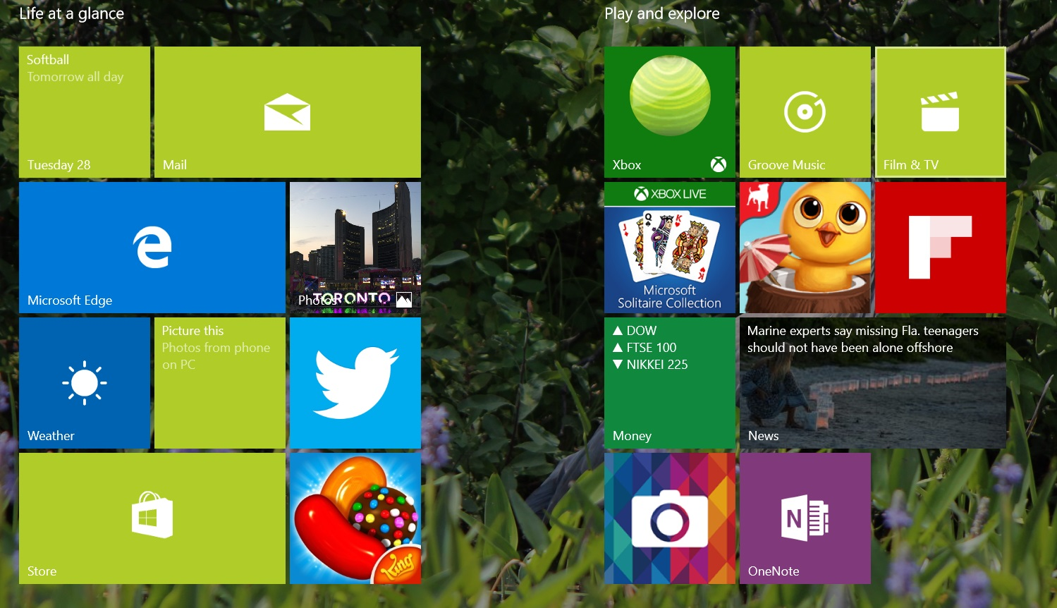 Windows 8 users will be familiar with this menu, now reserved for tablet mode.