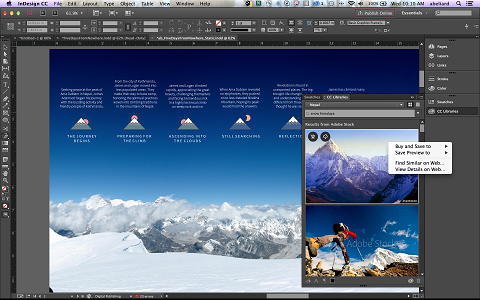 Users can now search for Adobe Stock content -- and license it -- from the CC libraries panel.