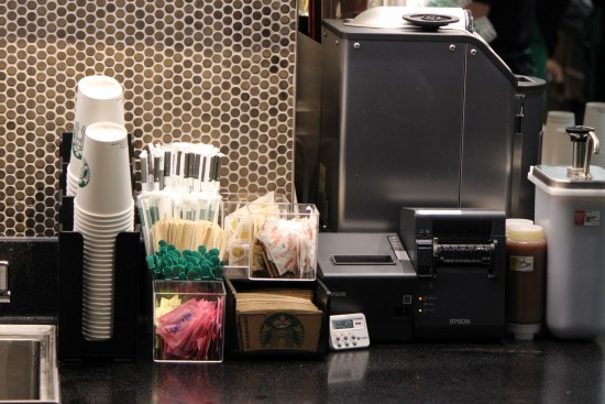 Starbucks locations offering Mobile Order & Pay receive the orders from this Epson printer.
