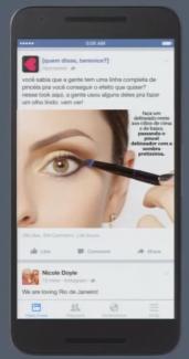 Facebook slideshow - eyeliner example