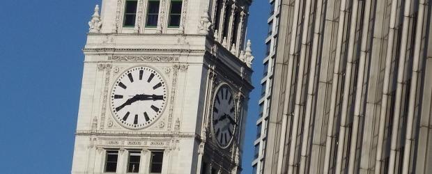 Old Chicago Public Clock
