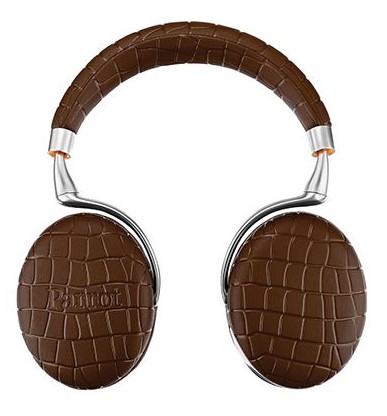 If you're looking to make a statement, these mocha-colored, crocodile-patterned headphones might do the trick.