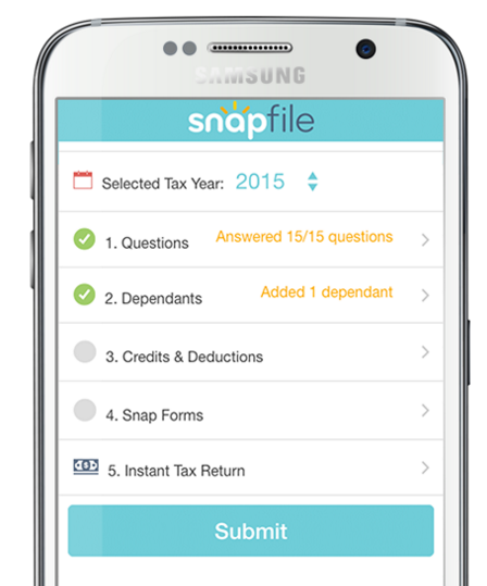 Snap file income tax