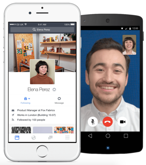 Facebook at Work offers mobile apps for Android and iOS, which include VoIP capabilities.