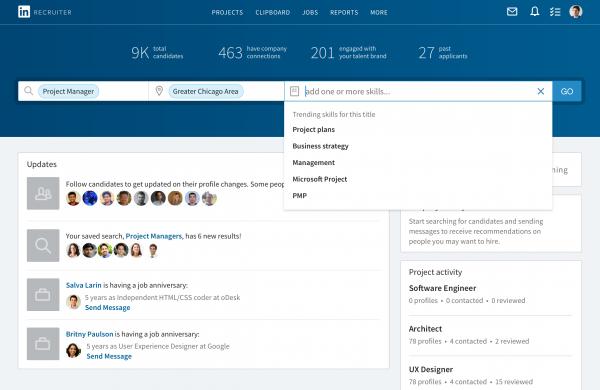 LinkedIn Recruiter update 1