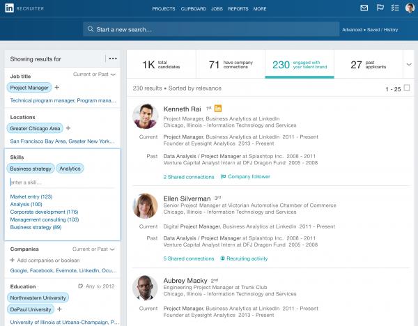 LinkedIn Recruiter update 2