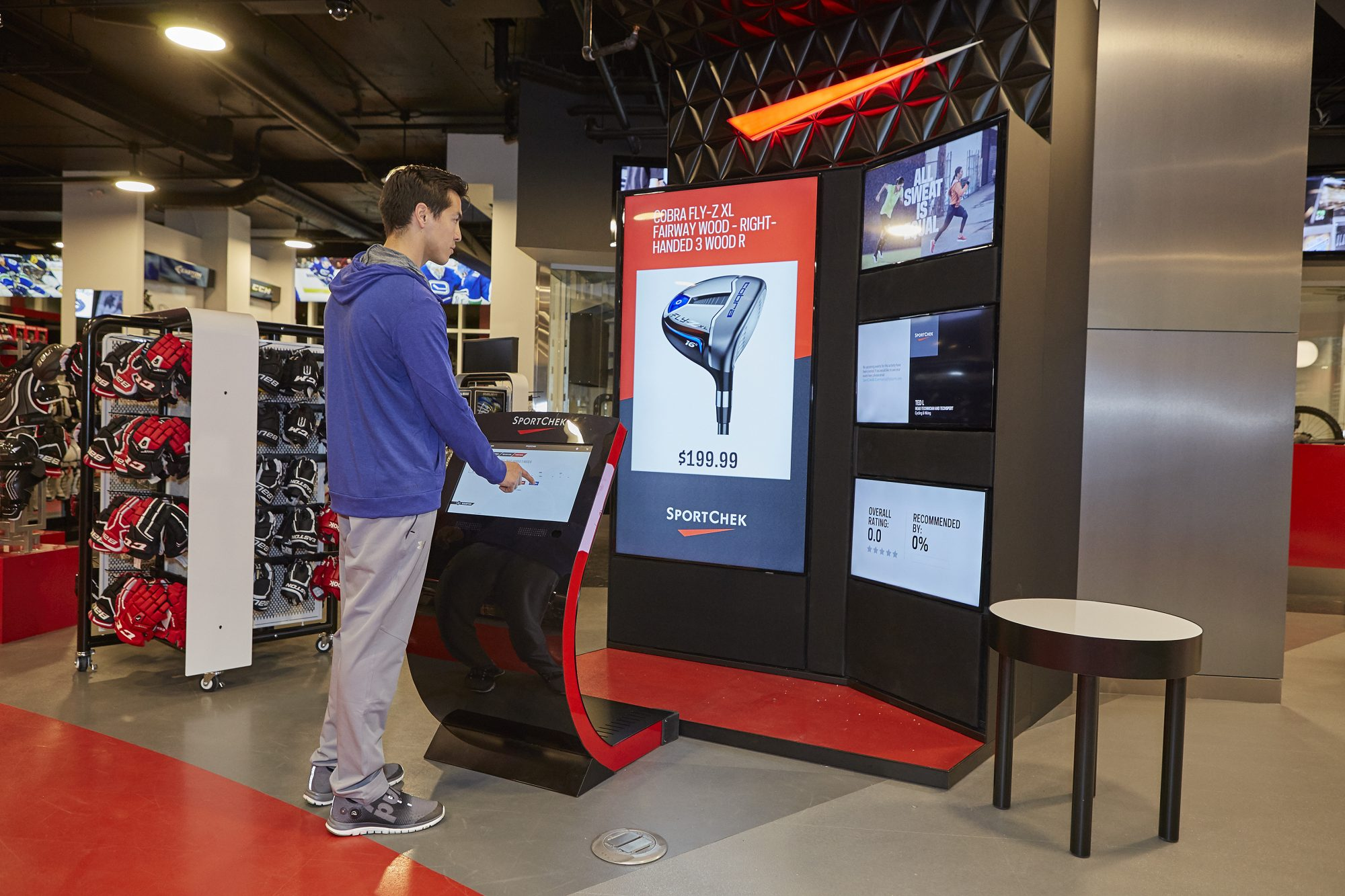Sport Chek Robson St_golf virtual department kiosk