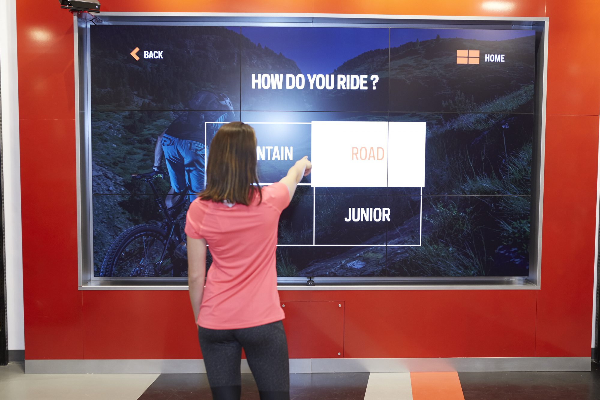 Sport Chek Robson St_interactive video wall