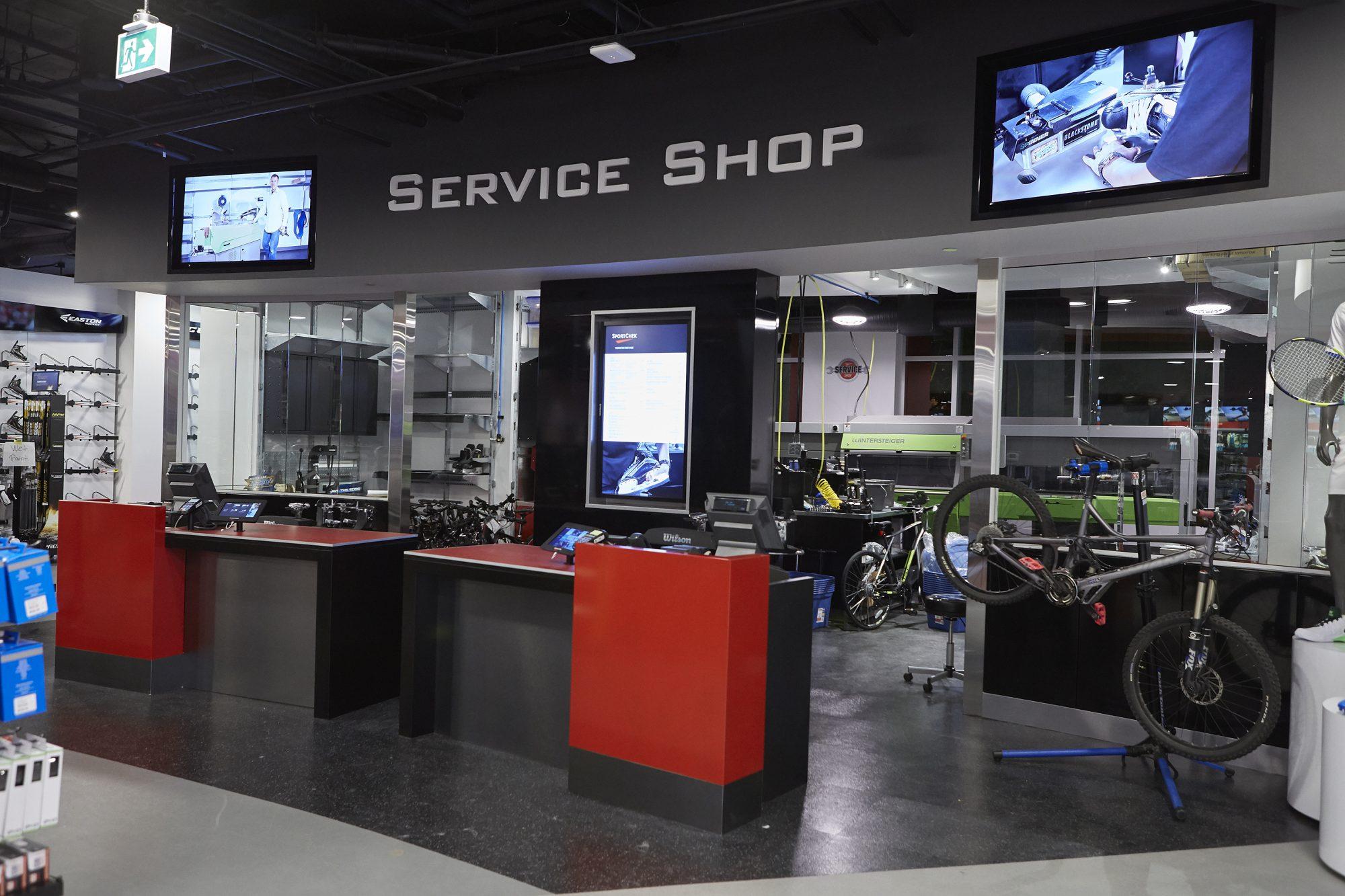 Sport Chek Robson St_service shop