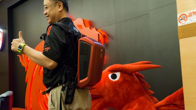 Computex Slideshow 3 - MSI's VR backpack