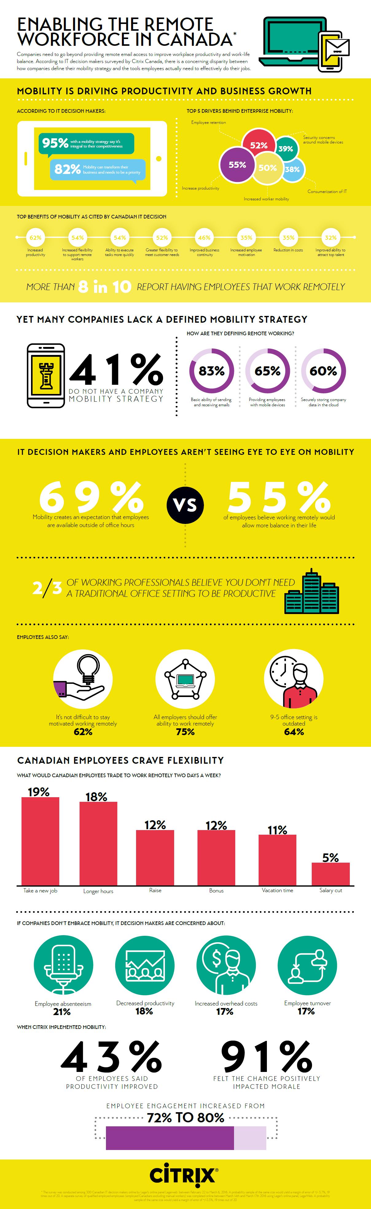 Remote workforce infographic