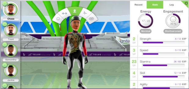 Telus Ignite - speed skating game character