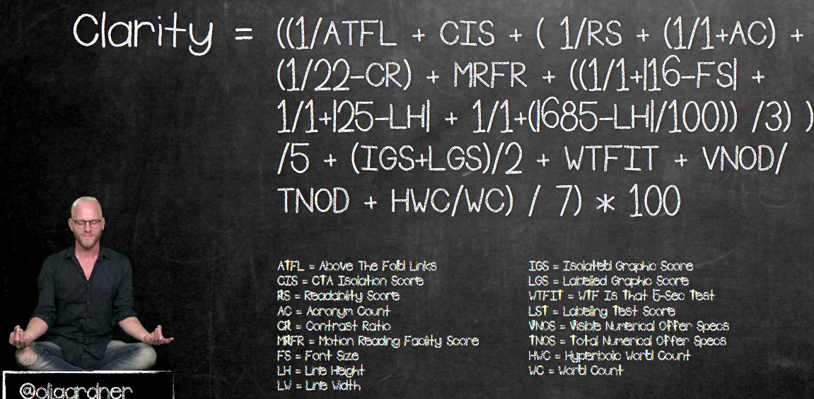 Clarity equation - hard mode
