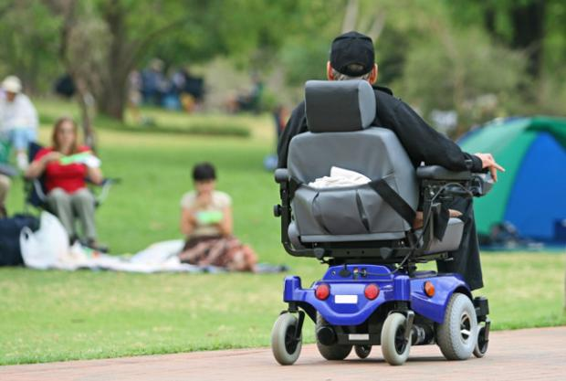 electric-wheelchair-user