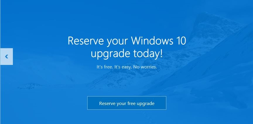 Reserve your free Windows 10 upgrade today!