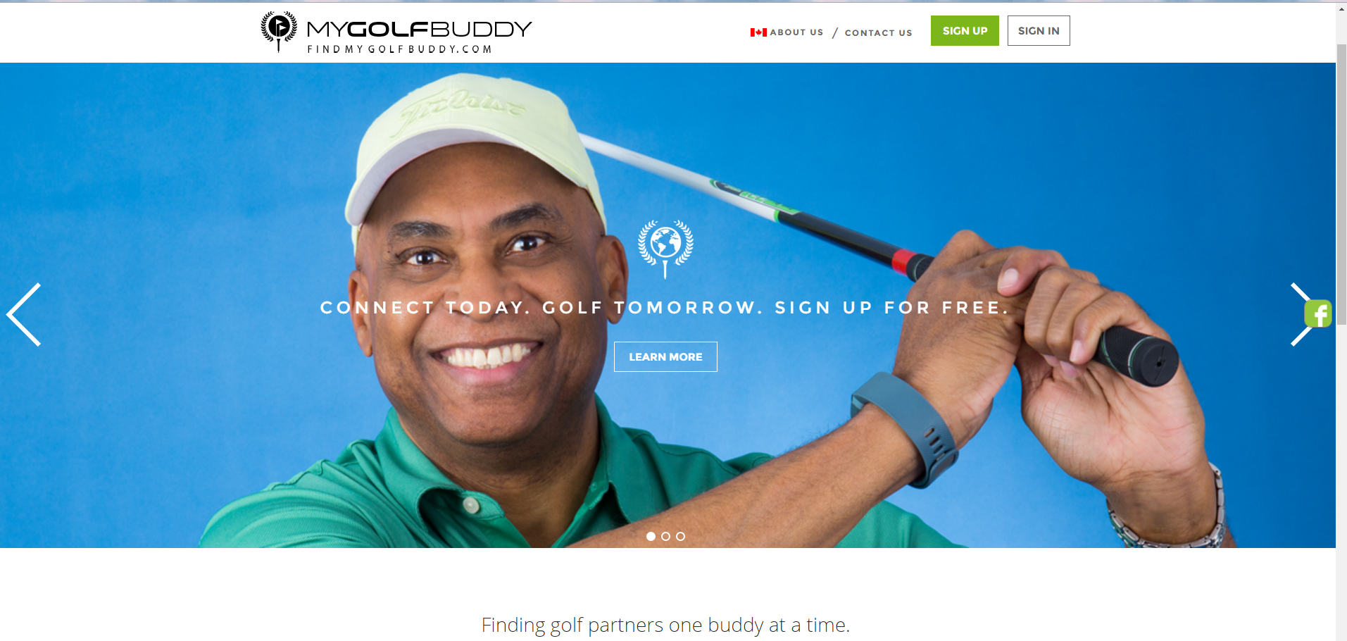The 'Tinder for golf' website is matching up Canadian