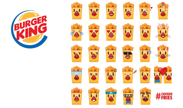Emoji marketing slideshow 8 - Burger King