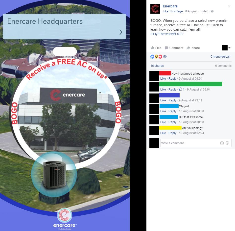 Enercare facebook post