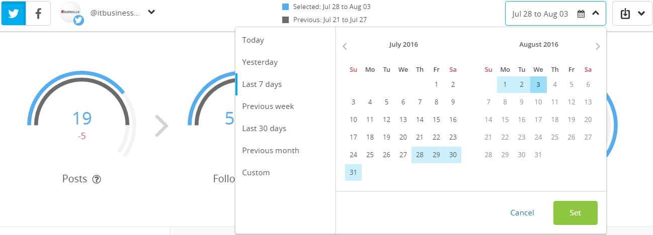 Hootsuite Analytics screen capture 3