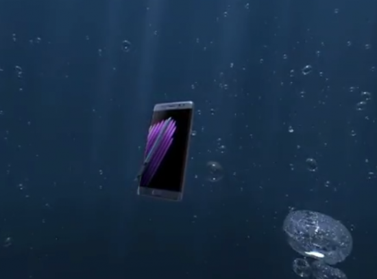 Galaxy Note 7 - under water
