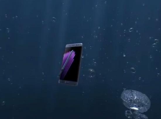 Galaxy Note 7 - under water