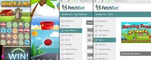 FetchBot games feature