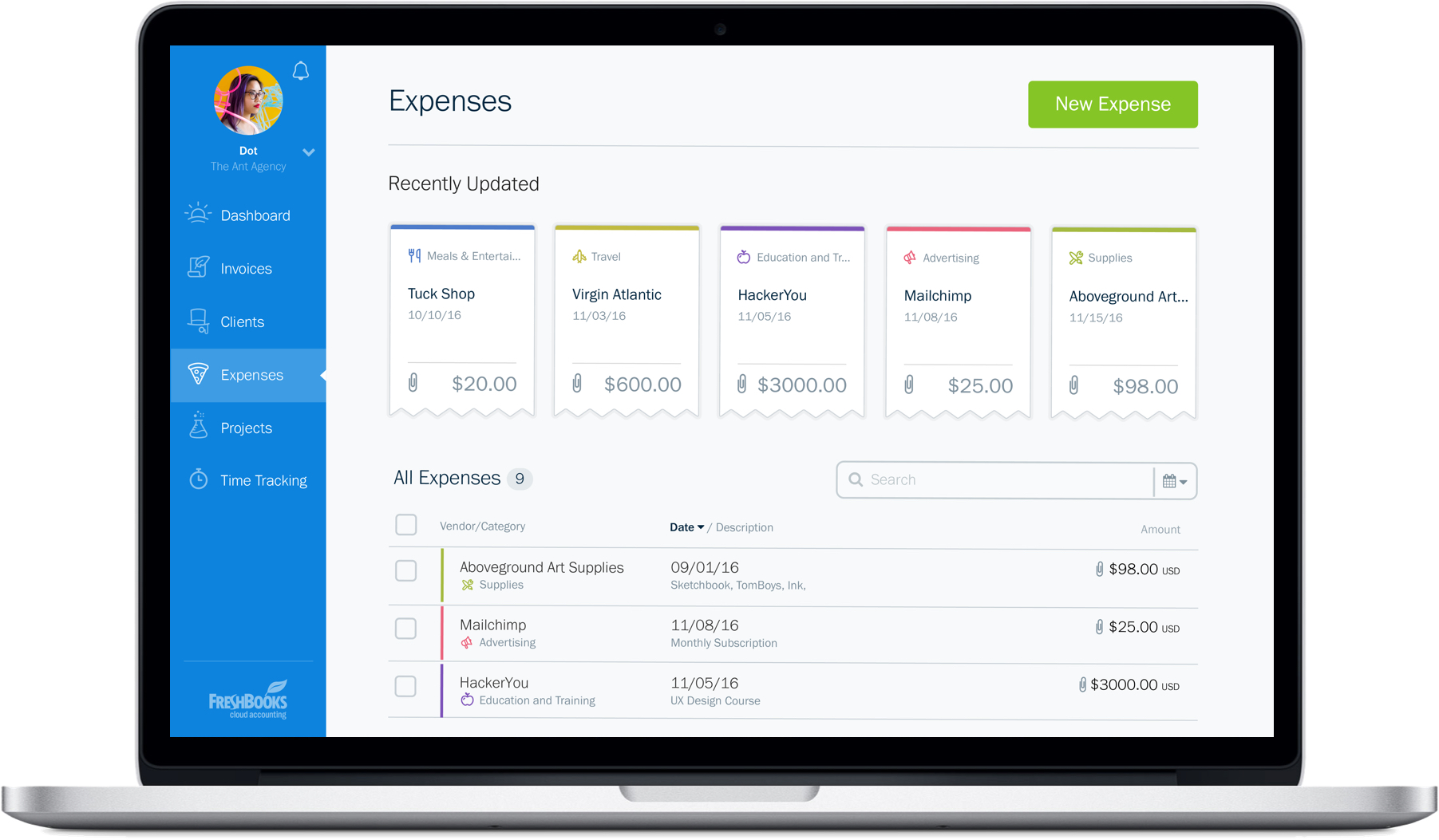 new-freshbooks-expenses