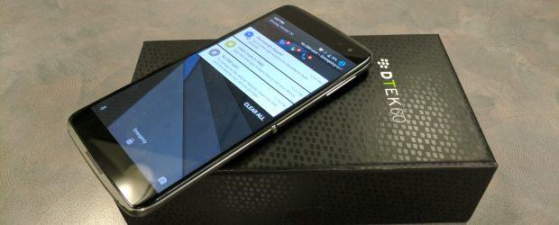 BlackBerry DTEK60 with box