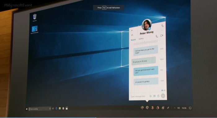 """New """"Most Important Contacts"""" features in the Windows 10 Creators Update."""